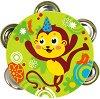 Тамбурина - Маймунка - Детски музикален инструмент -