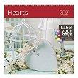 Стенен календар - Hearts 2021 -