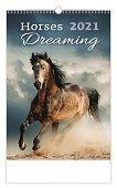 Стенен календар - Horses Dreaming 2021 - книга