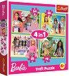 """Светът на Барби - 4 пъзела в кутия от серията """"Barbie"""" -"""