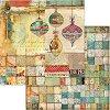 Хартия за скрапбукинг - Коледни мотиви - Размери 30.5 x 30.5 cm -