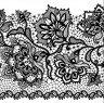 Салфетки за декупаж - Черна дантела на цветя - Пакет от 20 броя -