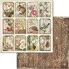 Хартия за скрапбукинг - Горски животни - Размери 30.5 x 30.5 cm -