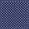 Салфетки за декупаж - Тъмно син фон на бели точки - Пакет от 20 броя -