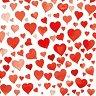 Салфетки за декупаж - Червени сърца - Пакет от 20 броя -
