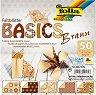 Хартия за оригами - Braun - Комплект от 50 листа с размери 15 х 15 cm -