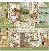 Хартии за скрапбукинг - Горски животни - Комплект от 10 листа с размери 30.5 x 30.5 cm -