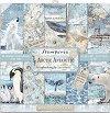 Хартии за скрапбукинг - Полярни животни - Комплект от 10 листа с размери 30.5 x 30.5 cm -