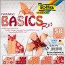 Хартия за оригами - Rot - Комплект от 50 листа с размери 15 х 15 cm -