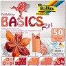 Хартия за оригами - Rot - Комплект от 50 листа с размери 20 х 20 cm -