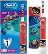 Oral-B Braun Vitality Kids D100 Pixar + Travel Case Gift Set - Детска електрическа четка за зъби и кутия за пътуване -