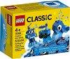 """Детски конструктор със сини части в кутия - От серията """"LEGO Classic"""" - филм"""