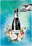 Поздравителна картичка - Champagne -