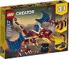 LEGO: Creator - Огнен дракон 3 в 1 - Детски конструктор -