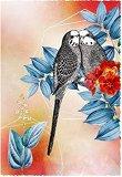 Поздравителна картичка - Папагали -