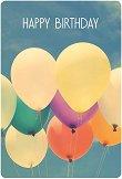 Поздравителна картичка - Балони -