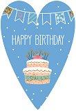 Поздравителна картичка - Happy Birthday - картичка
