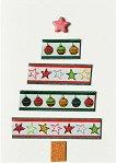 Поздравителна картичка - Коледна елха със звезда - картичка