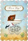 Поздравителна картичка - It's a Boy - картичка