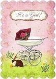 Поздравителна картичка - It's a Girl - картичка