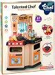 Детска кухня - Малък готвач - Детски комплект за игра с аксесоари, светлинни и звукови ефекти -