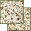 Хартия за скрапбукинг - Горски мотиви - Размери 30.5 x 30.5 cm -