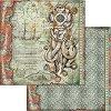 Хартия за скрапбукинг - Октопод - Размери 30.5 x 30.5 cm -