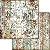 Хартия за скрапбукинг - Морско конче - Размери 30.5 x 30.5 cm -
