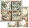 Хартия за скрапбукинг - Рамки с картини - Размери 30.5 x 30.5 cm -