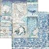 Хартия за скрапбукинг - Раковини - Размери 30.5 x 30.5 cm -