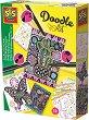 Създай сам картички - Doodle Art - Творчески комплект за оцветяване -
