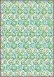 Декупажна хартия - Зелена мозайка - Формат А4 -