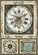 Декупажна хартия - Фантастичен часовник - Формат А4 -
