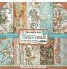 Хартии за скрапбукинг - Морски свят - Комплект от 10 броя с размери 20.3 x 20.3 cm -