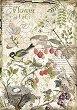 Декупажна хартия - Горски цветя и плодове - Формат А4 -