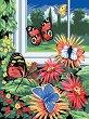 Рисуване по номера с акрилни бои - Пеперуди