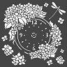Шаблон - Часовник с хортензии