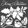 Шаблон - Merry Christmas - Размери 18 х 18 cm -