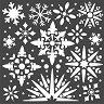 Шаблон - Снежинки
