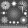 Шаблон - Звезди - Размери 18 х 18 cm -