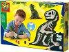 Направи сам - Светещ макет на динозавър - Образователен комплект -