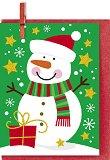 Поздравителна картичка - Снежен човек -