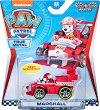 """Маршъл в спортен автомобил - Детска метална играчка от серията """"Пес патрул"""" -"""