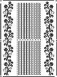 Шаблон - Флорални фризове - Размери 21 x 29.7 cm -