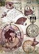 Декупажна хартия - Полета на времето - Формат А4 -