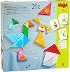 Танграм с шаблони - Дървена логическа игра - игра
