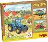 Земеделски машини - Комплект от 3 пъзела -