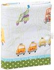 Ръчно изработена текстилна подвързия за книга - Превозни средства -