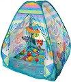 Активна гимнастика - Типи палатка - Комплект с музикална въртележка и 30 топки за игра -