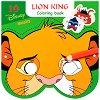Маски за оцветяване - Цар Лъв - Творчески комплект от 10 маски и моливи - детска книга